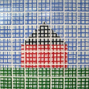 house: large grid by jennifer bartlett