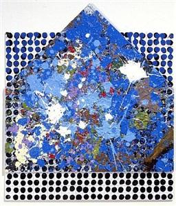 glass house on plate by jennifer bartlett