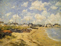 on the beach, barnegat light, nj (sold) by laurence a. campbell
