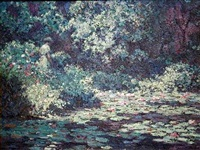 water lilies (sold) by laurence a. campbell