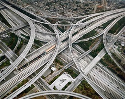 highway #2, los angeles, california, usa by edward burtynsky