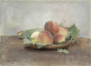 nature morte aux pêches by victor gabriel gilbert