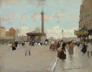 place de la bastille, paris by luigi loir