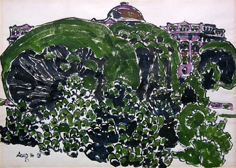 fordham university by david brown milne