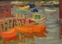 dories, gloucester by nell blaine