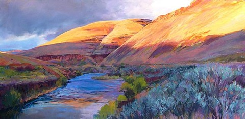 deschutes light by judith cunningham