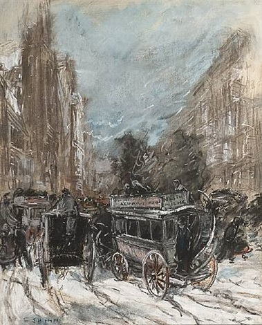 fifth avenue by everett shinn