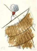shuttlecock on a high wire by claes oldenburg