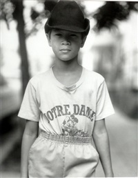 easton (boy in notre dame shirt) by judith joy ross