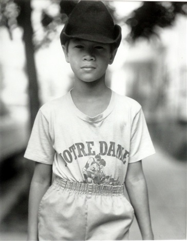 easton boy in notre dame shirt by judith joy ross