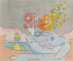lady and sailboat version ii #1 by peter max