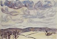 western landscape by allen tucker