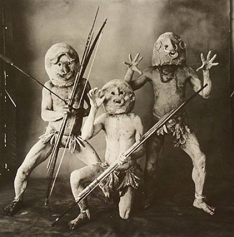 three asaro mudmen (b), new guinea by irving penn