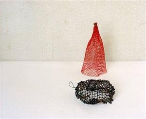 two nets (orange & black) by david halliday