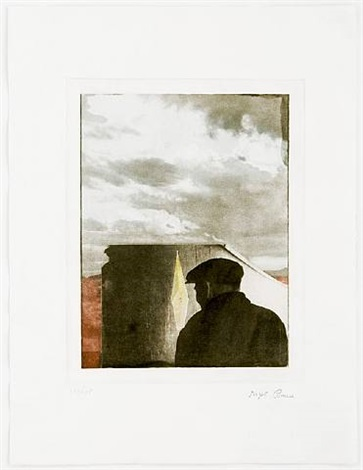 untitled (landscape with figure) by joseph cornell