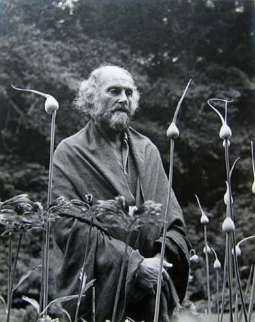 morris graves in his leek garden by imogen cunningham
