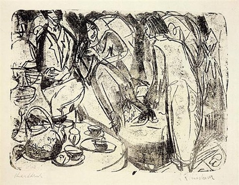 teestunde (tea hour) by ernst ludwig kirchner