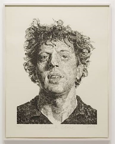phil/fingerprint by chuck close