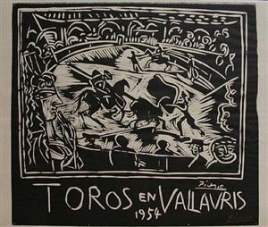 toros en vallauris 1954 by pablo picasso
