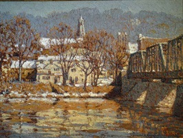 lambertville from new hope (sold) by laurence a. campbell