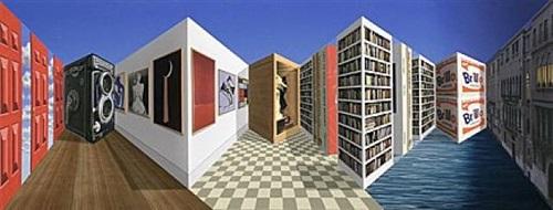 patrick hughes dreidimensionale bildobjekte - malerei und multiples by patrick hughes