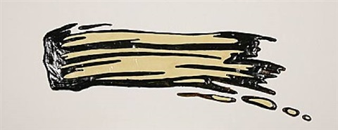 brush stroke (pinselstrich) by roy lichtenstein