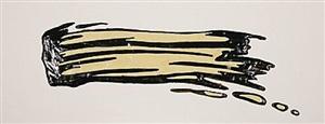 brush stroke (pinselstrich) by roy lichtenstein