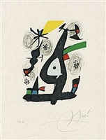 aus 'la mélodie acide' by joan miró