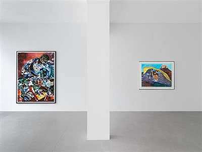 malcolm morley, seven paintings, exhibition view, 2010