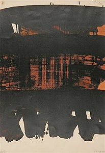 lithographie no. 22 by pierre soulages