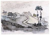 landscape near vichy by jean françois millet