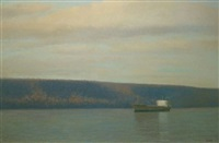 tanker on the hudson by john beerman
