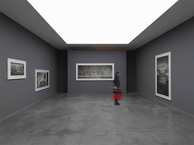 hans op de beeck: works on paper & video, exhibition view, 2010