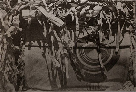 untitled (shredded newspaper) by dennis hopper