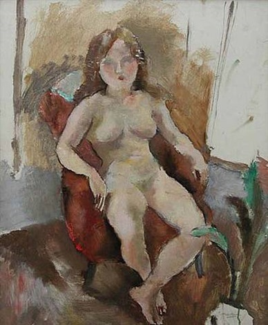 seated nude by jules pascin