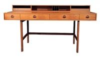 jens quistgaard flip-top teak desk, circa 1960's by jens quistgaard