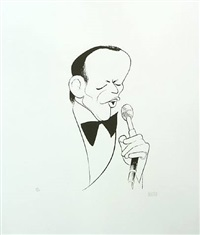 frank sinatra, the voice by albert hirschfeld