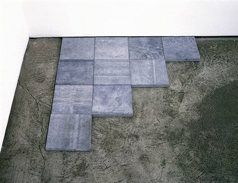 blue stone σ 4 by carl andre