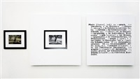 one and three photograph (eng.-german) by joseph kosuth