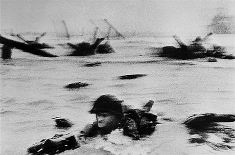 omaha beach, normandy, france by robert capa
