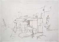 the studio with bottles / l'atelier aux bouteilles by alberto giacometti