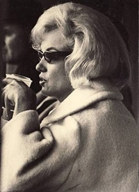 marilyn monroe at a new york yankees baseball game, yankee stadium by irving haberman