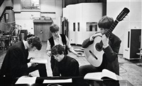 the beatles in the abbey road studios, london, great britain by david hurn