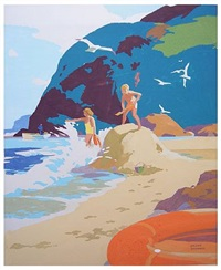 summer in cornwall by frank sherwin