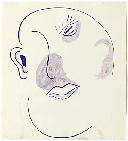 untitled (kartoffelkopf / potato head) by sigmar polke