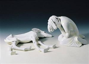 crying girl with animal by kim simonsson