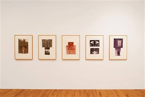 glacial decoy series (etchings i - v) by robert rauschenberg