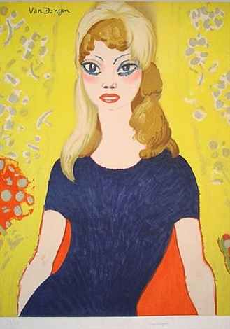 brigitte bardot-large size version by kees van dongen