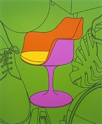 untitled (chair) by michael craig-martin