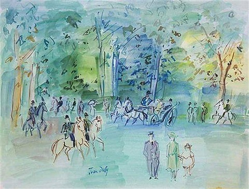 parc du bulogne by jean dufy